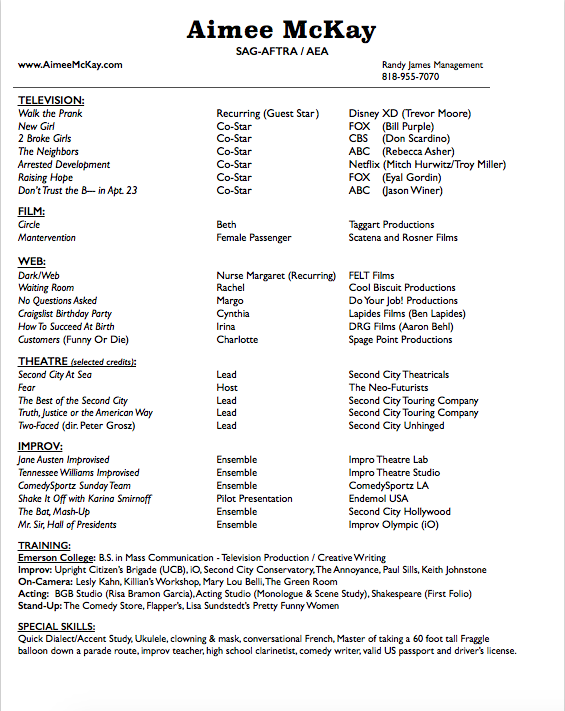 pdf comedy resume 2013 revised comedian resume